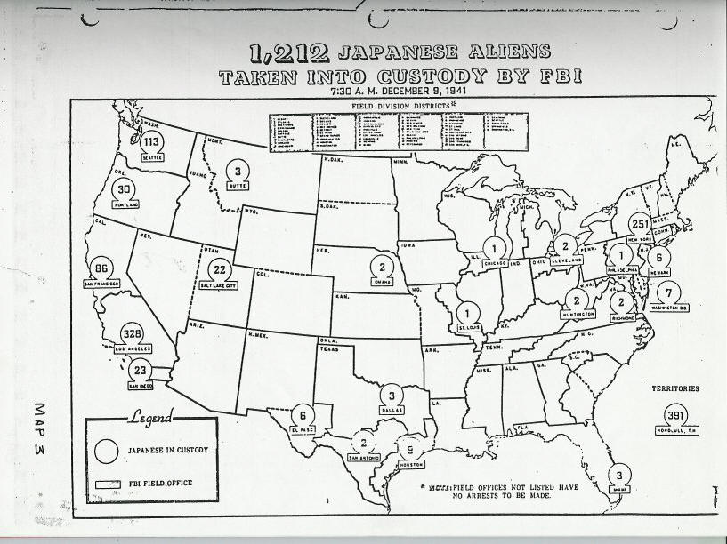 Myths Of World War II Internment - Map of italian internment camps in us